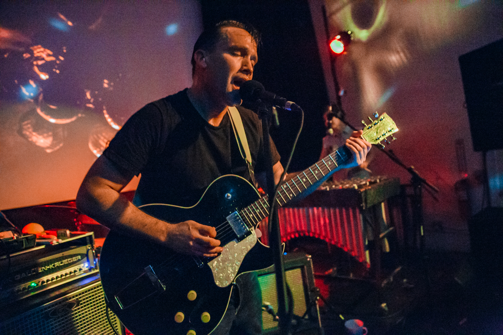 Xiu Xiu performing at PhilaMOCA in Philadelphia, PA on October 1st, 2016 (photo by Matt Condon /  @arcane93 )