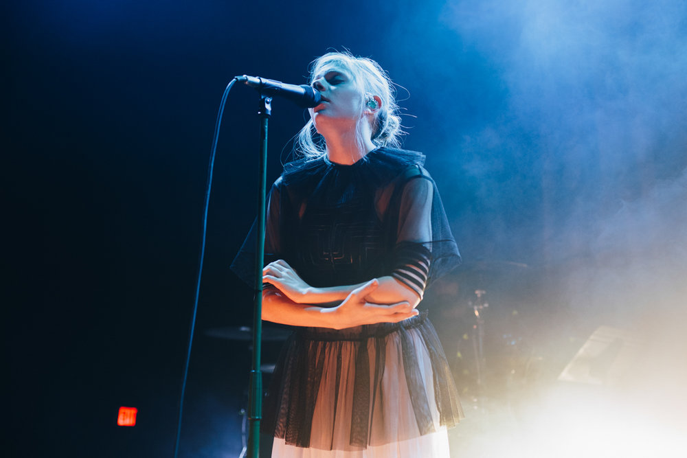 Aurora performing at the 9:30 Club in Washington, DC - 10/31/16 (photo by Mauricio Castro / @TheMauricio)