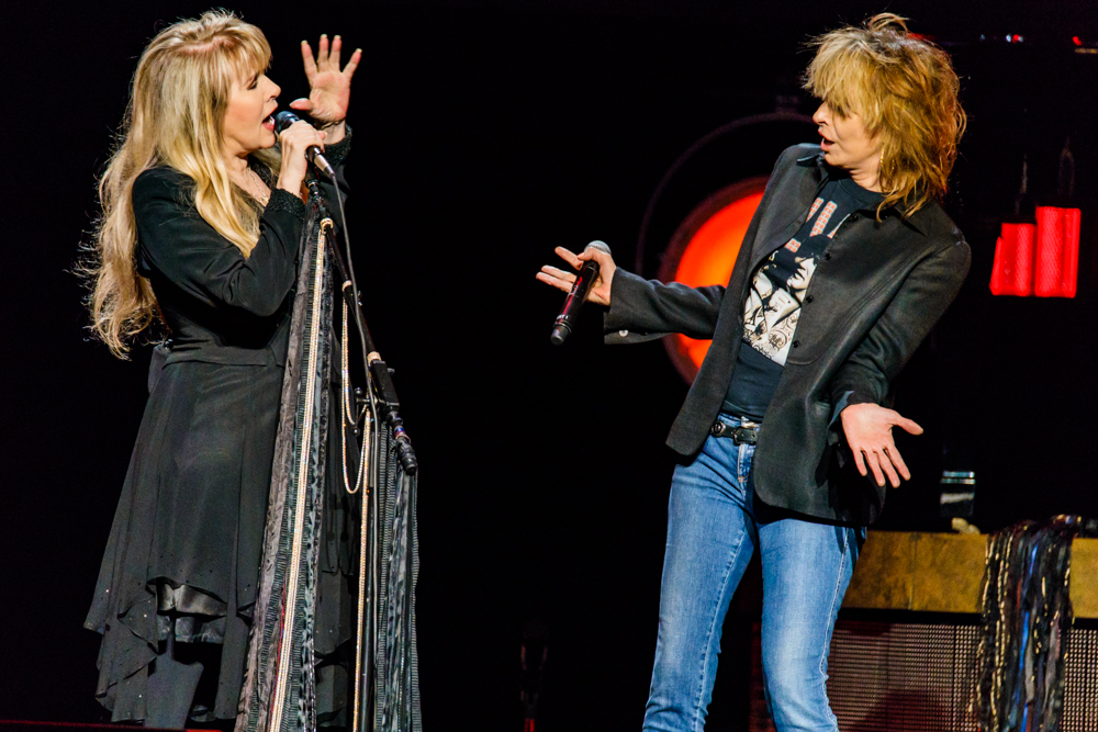 "Stevie Nicks with Chrissie Hynde of The Pretenders performing ""Stop Draggin' My Heart Around"" at the Verizon Center in Washington, DC on November 14th, 2016 (photo by Matt Condon / @arcane93)"