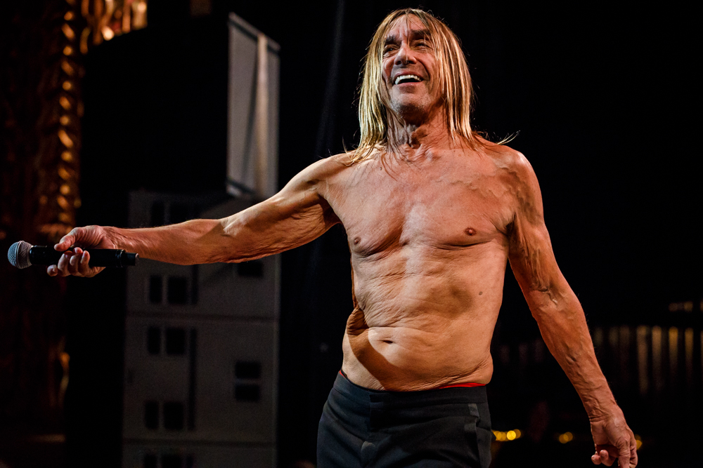 Iggy Pop performing at the Academy of Music in Philadelphia, PA on April 15th, 2016 (photo by Matt Condon /  @arcane93 )