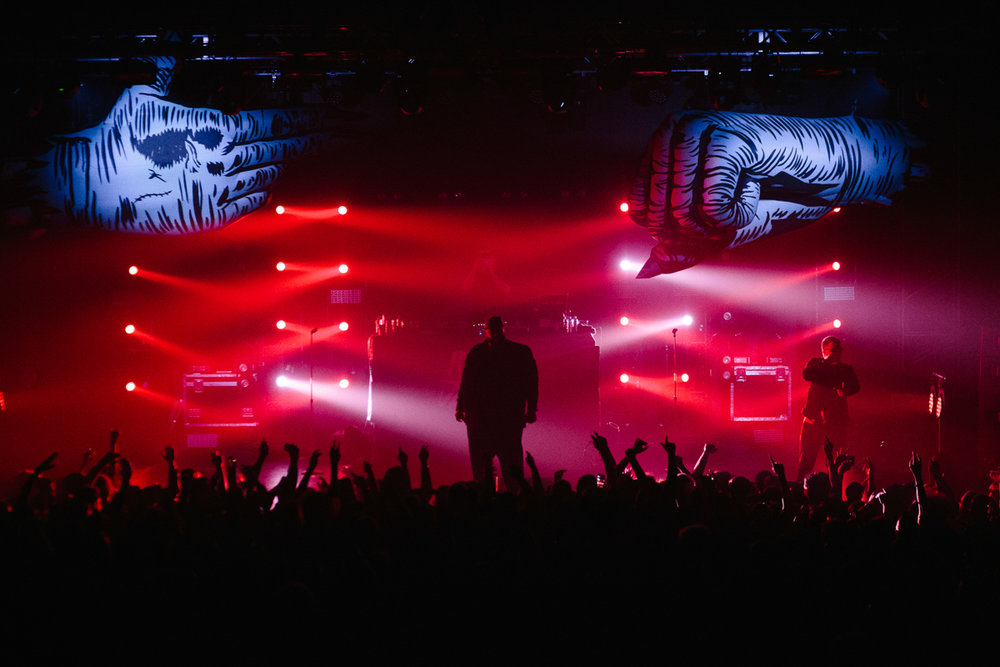 Run The Jewels performing at Echostage in Washington, DC on 1/19/17 (Photo by Mauricio Castro/@TheMauricio)