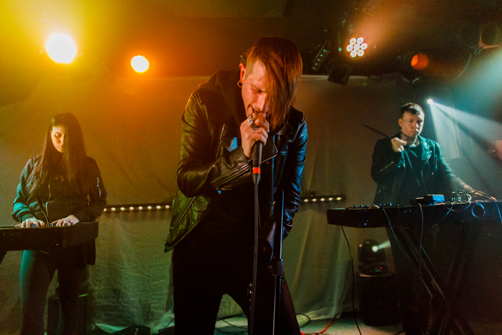 Cold Cave performing at the Rock and Roll Hotel in Washington, DC, 1/25/2017