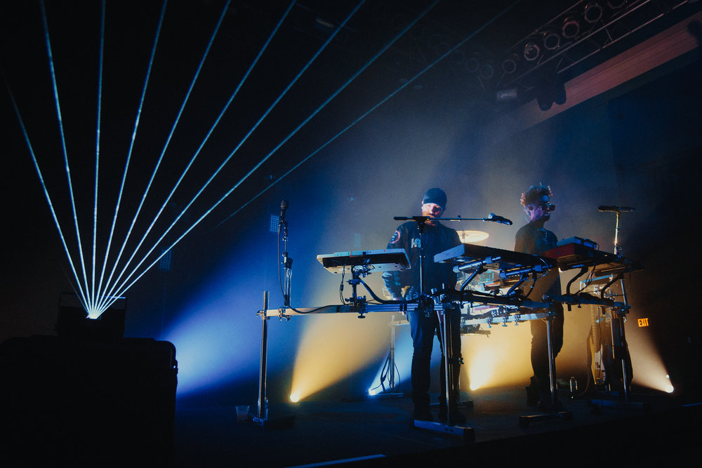 The Knocks bringing the pew pew pew to the 9:30 Club. (Photo by Mauricio Castro /  @themauricio )