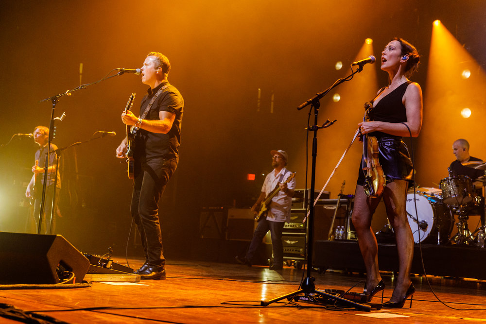 Jason Isbell and the 400 Unit performing at Merriweather Post Pavilion in Columbia, MD - 6/30/2017 (photo by Matt Condon / @arcane93)