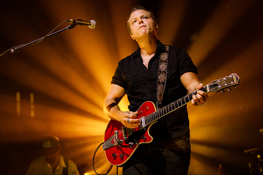Jason Isbell and the 400 Unit performing at Merriweather Post Pavilion in Columbia, MD on June 30th, 2017 (photo by Matt Condon / @arcane93)