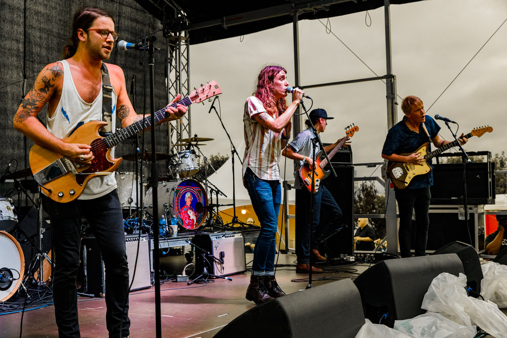 The Weeks performing at WTMD First Thursdays in Canton Waterfront Park, Baltimore - 7/6/2017 (photo by Matt Condon / @arcane93)