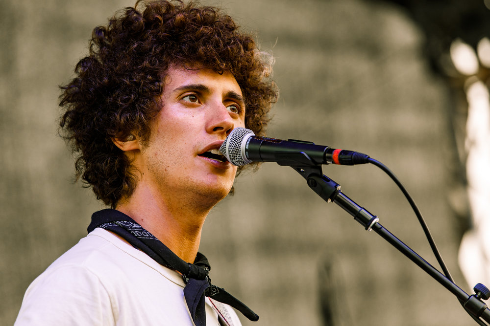 Ron Gallo performing at WTMD First Thursdays in Canton Waterfront Park, Baltimore - 7/6/2017 (photo by Matt Condon / @arcane93)