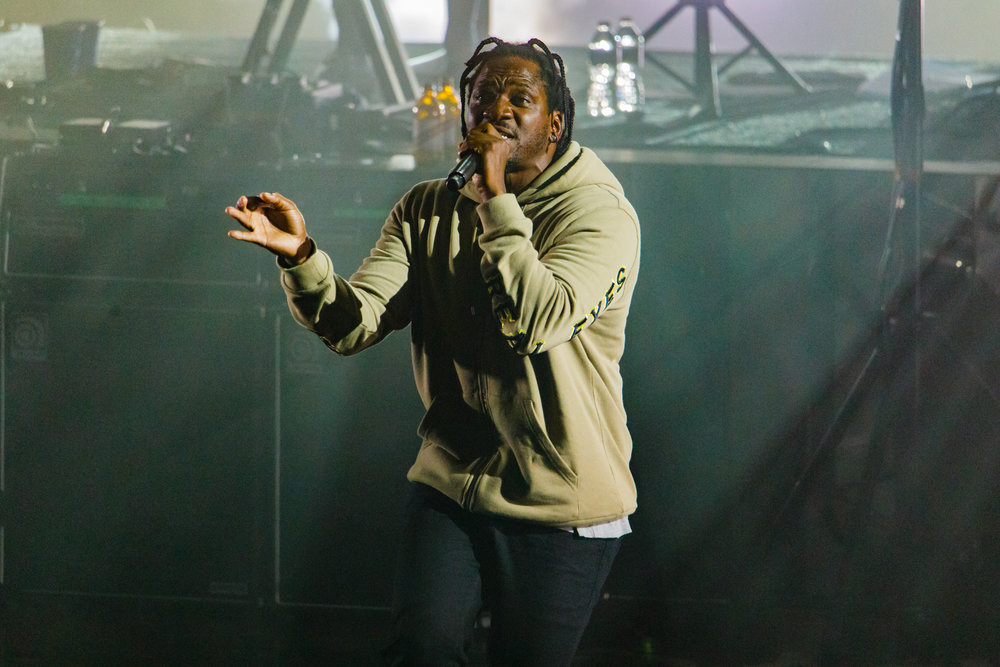 Pusha T performing with Gorillaz at Merriweather Post Pavilion in Columbia, MD - 7/17/2017 (photo by Matt Condon / @arcane93)