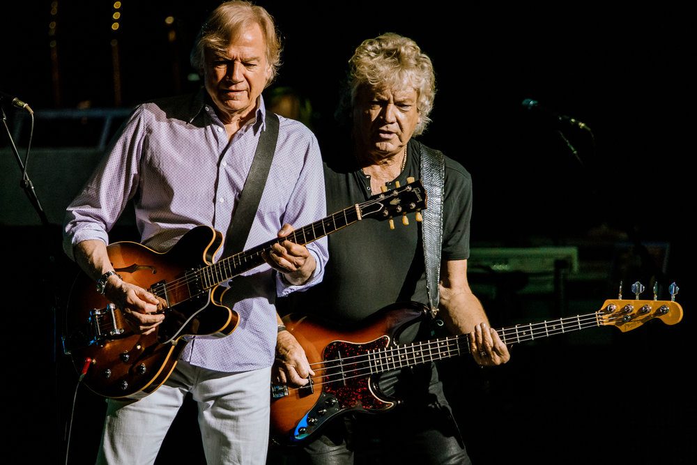 The Moody Blues' Justin Hayward and John Lodge performing at Pier Six Pavilion in Baltimore, MD on July 19th, 2017 (photo by Matt Condon /  @arcane93 )