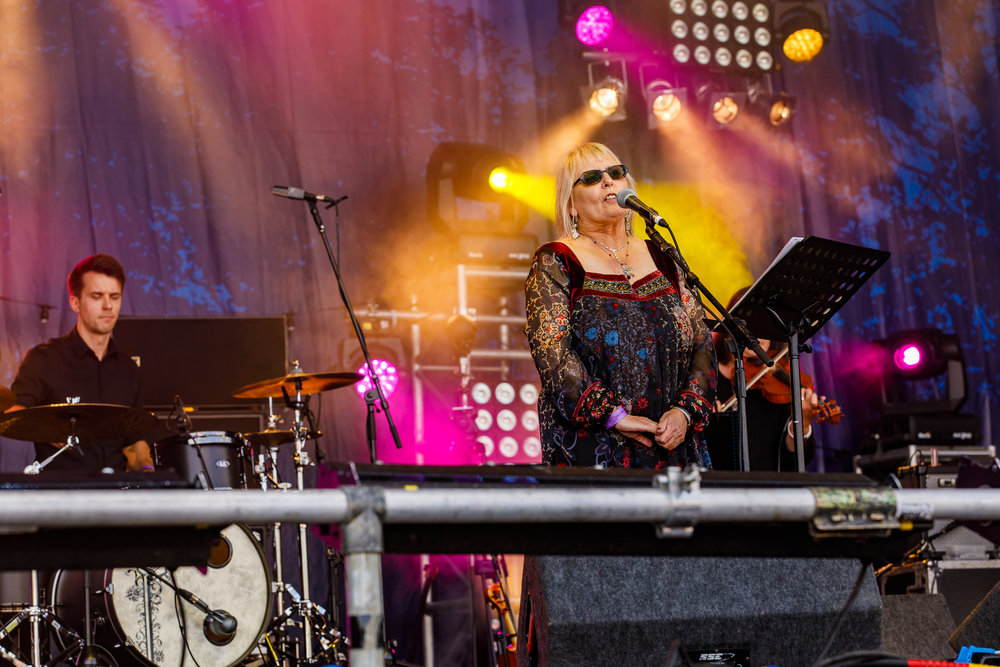 Judy Dyble at Fairport's Cropredy Convention (photo by Matt Condon / @arcane93)