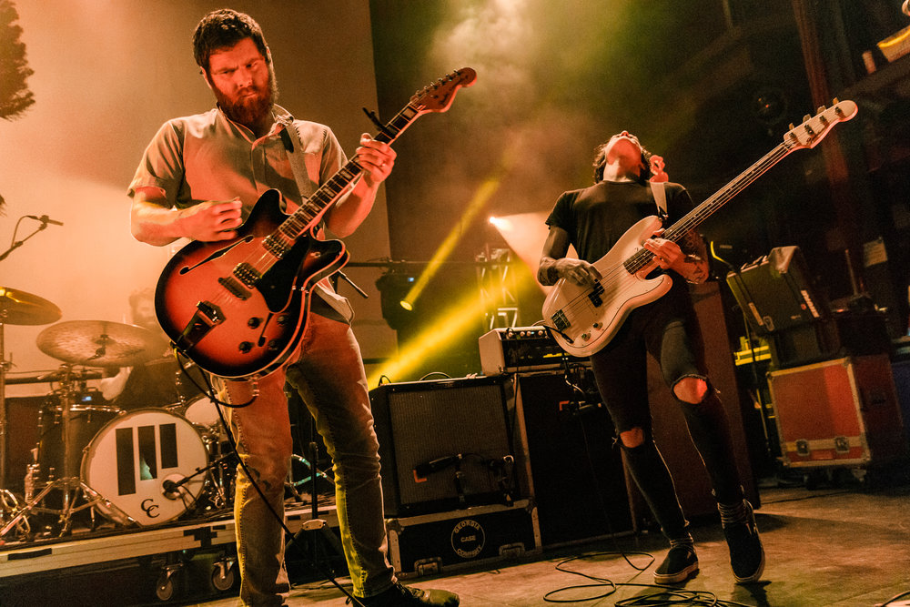 Manchester Orchestra performing at The Fillmore in Silver Spring, MD on October 3rd, 2017 (photo by Matt Condon /  @arcane93 )