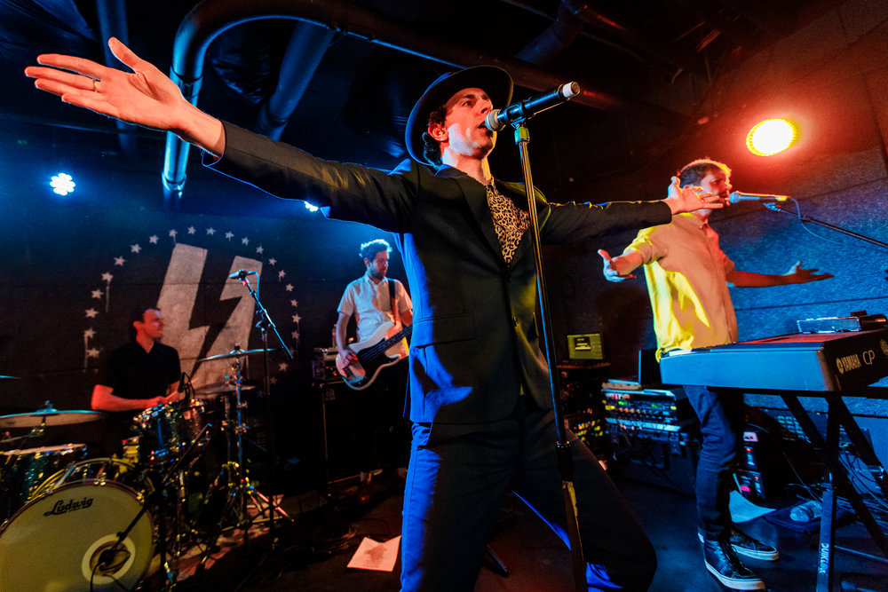 Maximo Park performing at U Street Music Hall in Washington, DC - 11/28/2017 (photo by Matt Condon / @arcane93)