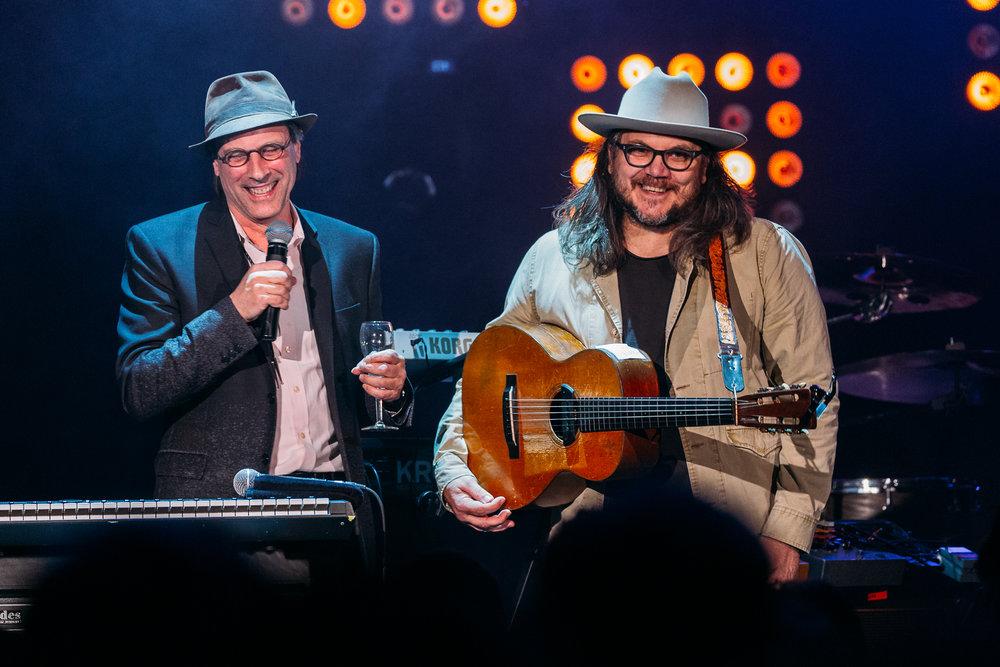 Bob Boilen and Jeff Tweedy at 9:30 Club (Photo by Mauricio Castro /  @themauricio )