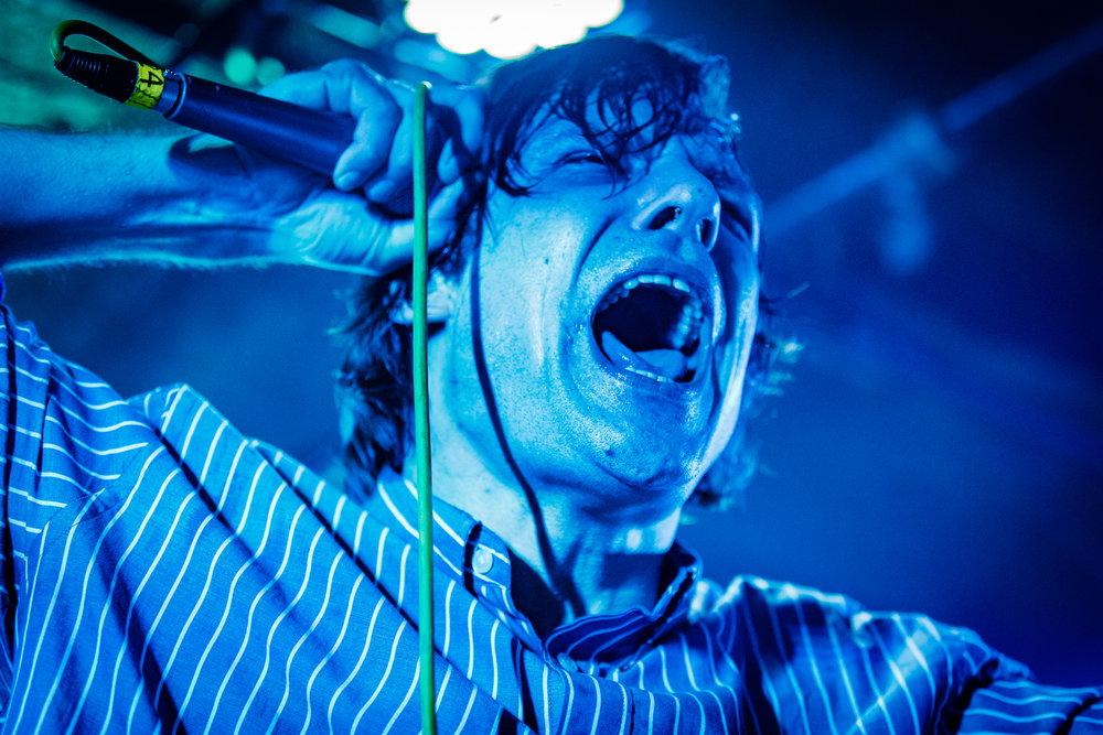 John Maus performing at the Rock and Roll Hotel in Washington, DC on February 10th, 2018 (photo by Matt Condon /  @arcane93 )