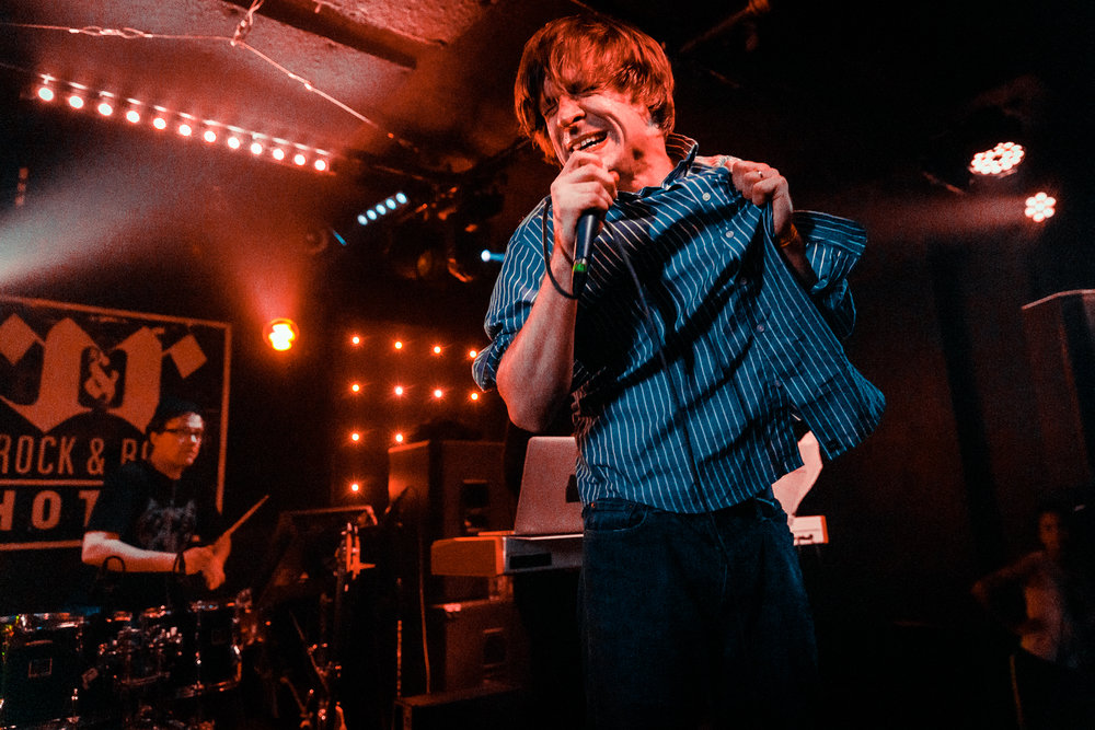John Maus performing at the Rock and Roll Hotel in Washington, DC - 2/10/2018 (photo by Matt Condon / @arcane93)