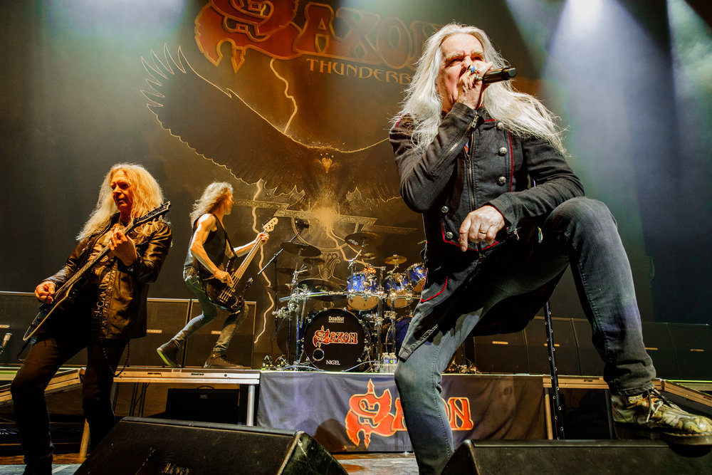 Saxon performing at The Anthem in Washington, DC on March 18th, 2018 (photo by Matt Condon / @arcane93)