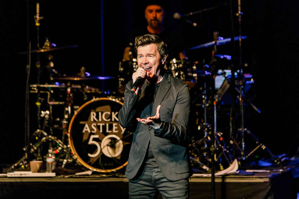 Rick Astley performing at the Lincoln Theatre in Washington, DC on April 18th, 2018 (photo by Matt Condon /  @arcane93 )