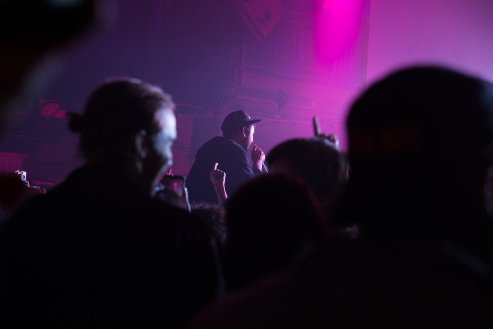 Unknown Mortal Orchestra's Ruban Nielson making his way into the crowd at 9:30 Club (Photo by Avery Junius /  @1takeace )