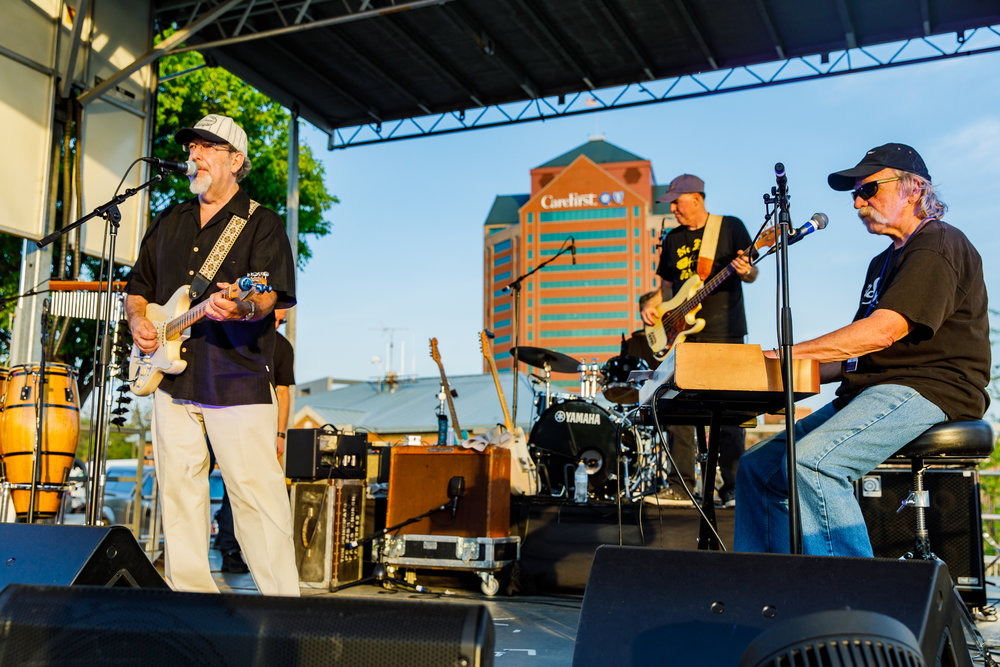 Tom Principato Band performing at WTMD First Thursday at Canton Waterfront Park, Baltimore - 5/3/2018 (photo by Matt Condon / @arcane93)