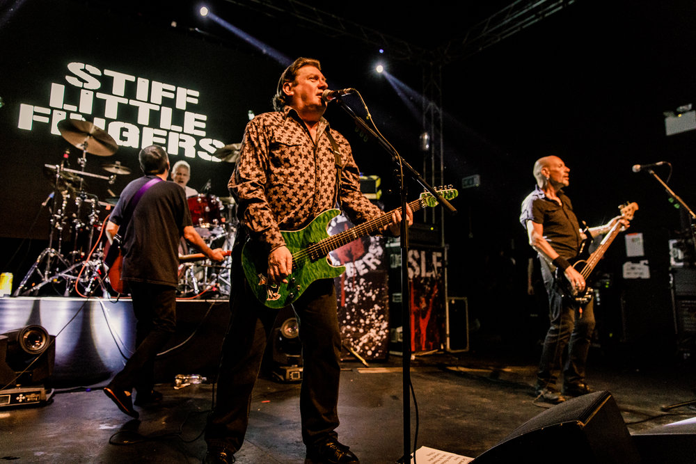Stiff Little Fingers performing at The Forum Hertfordshire in Hatfield, England on May 26th, 2018 (photo by Matt Condon /  @arcane93 )