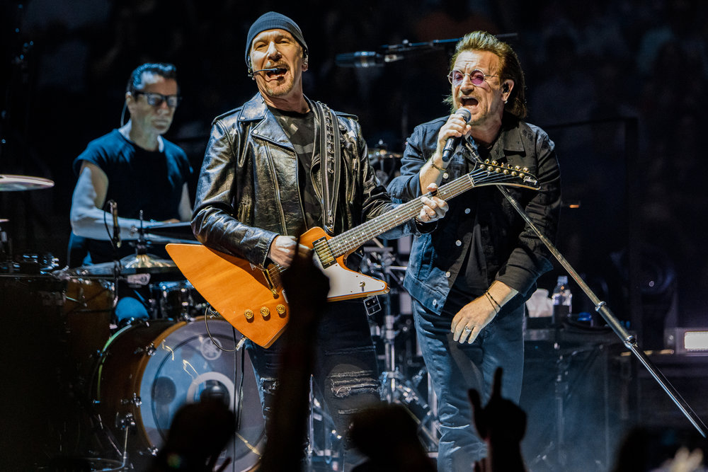 U2 performing at Capital One Arena in Washington, DC on June 17th, 2018 (photo by Matt Condon /  @arcane93 )