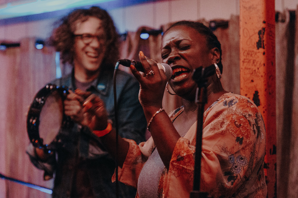 Phil Cook backing up Tamisha Waden at Songbyrd (photo by Mauricio Castro /  @themauricio )