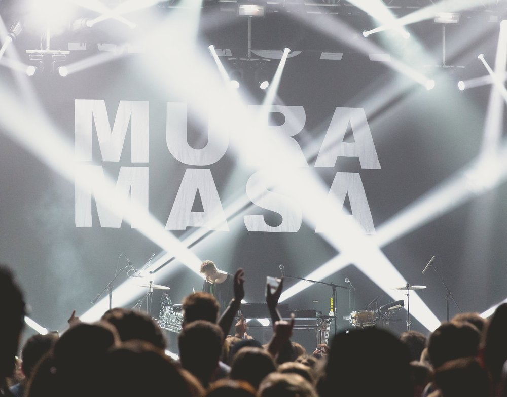Mura Masa at 9:30 Club (Photo by Avery Junius /  @1takeace )