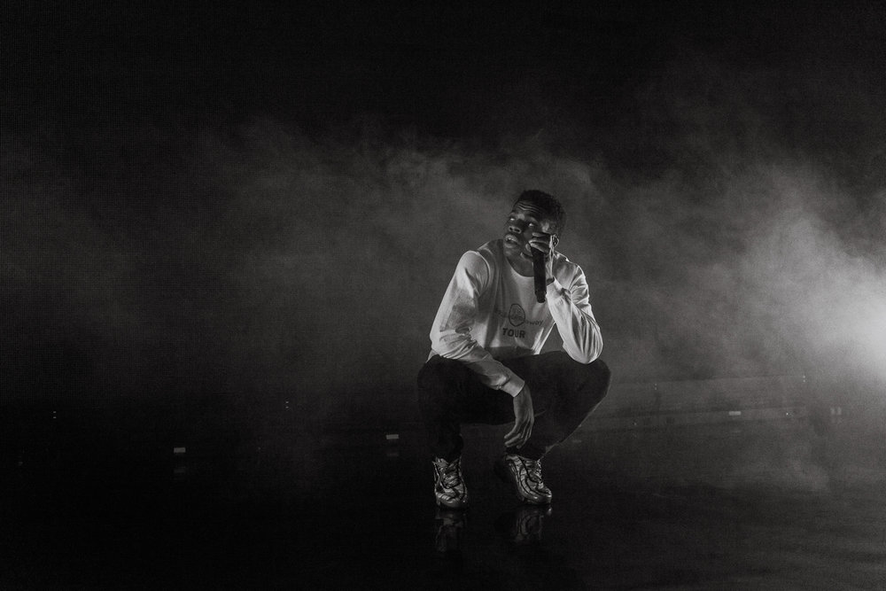 Vince Staples performing at The Riviera Theatre in Chicago, Il (Photo by  Alex Schelldorf )