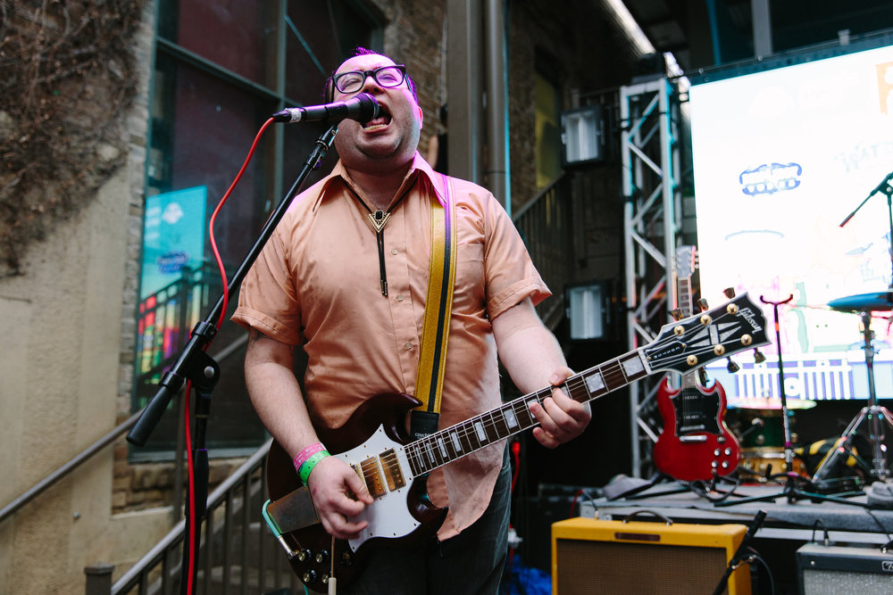 Priests at FLOODFest / Cedar Street Courtyard (Photo by Mauricio Castro)
