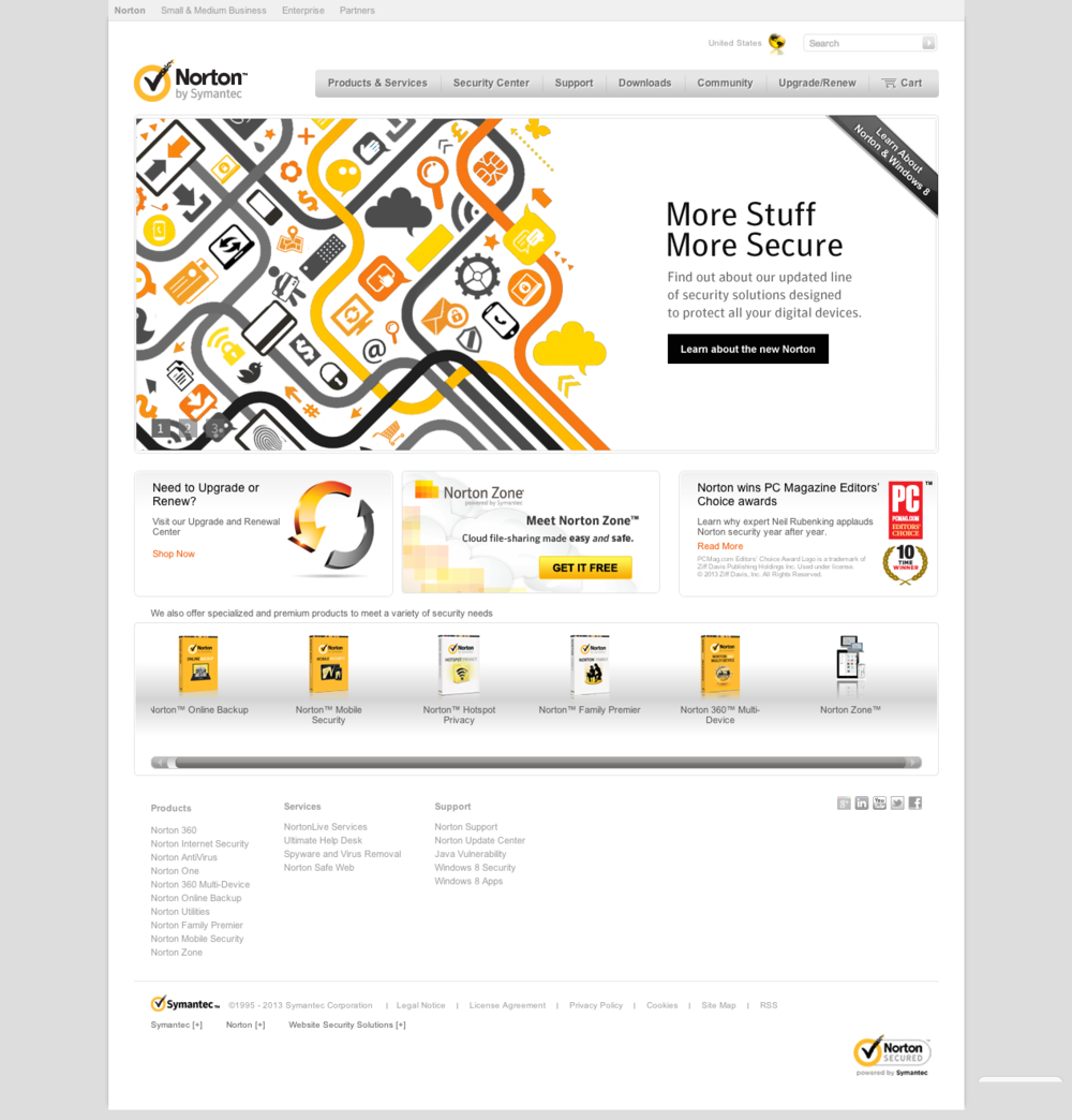 Norton 2014 Product Launch Homepage Banner