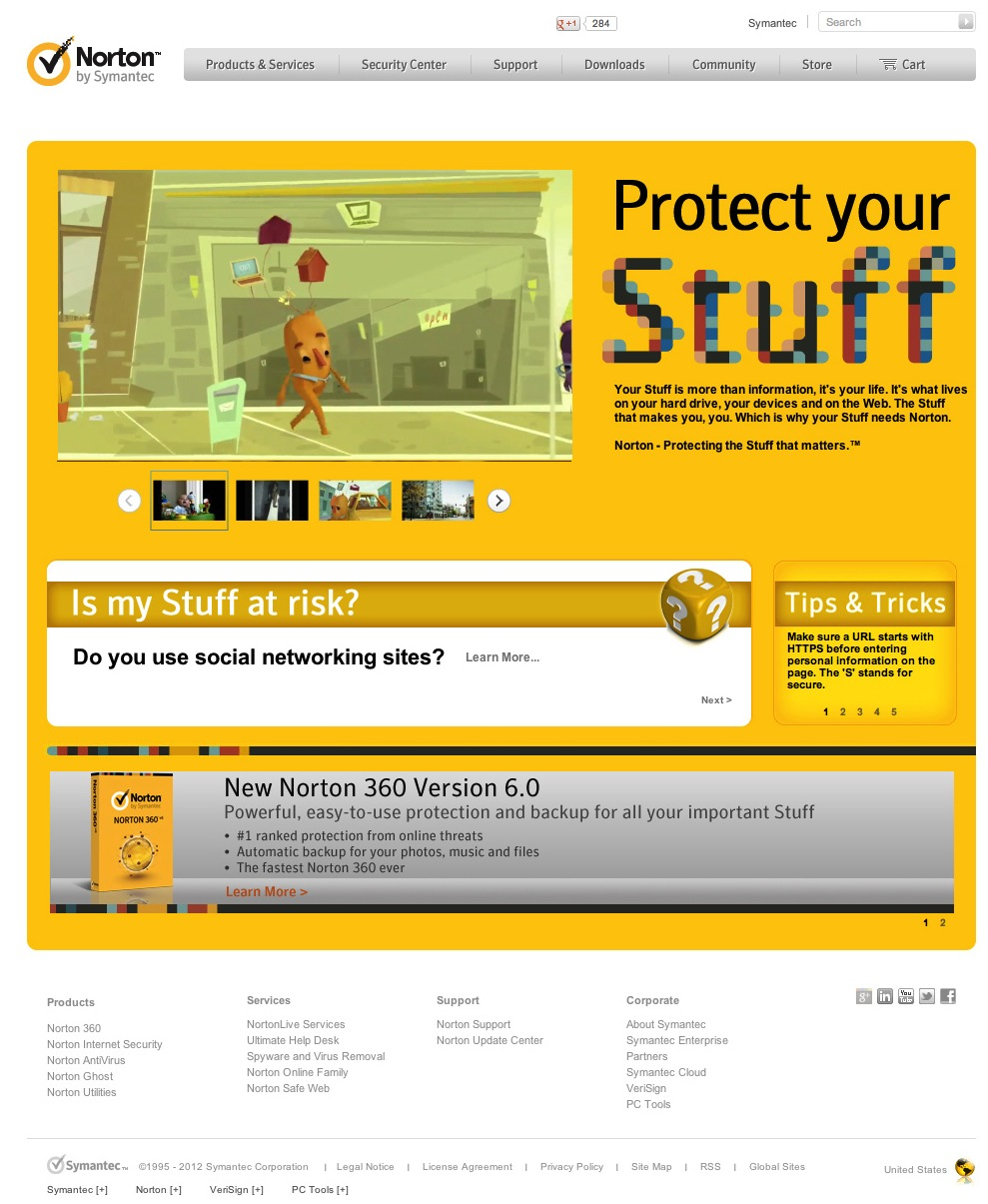 "Norton ""Protect Your Stuff"" Campaign Page"