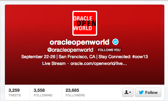 Oracle OpenWorld Twitter Feed