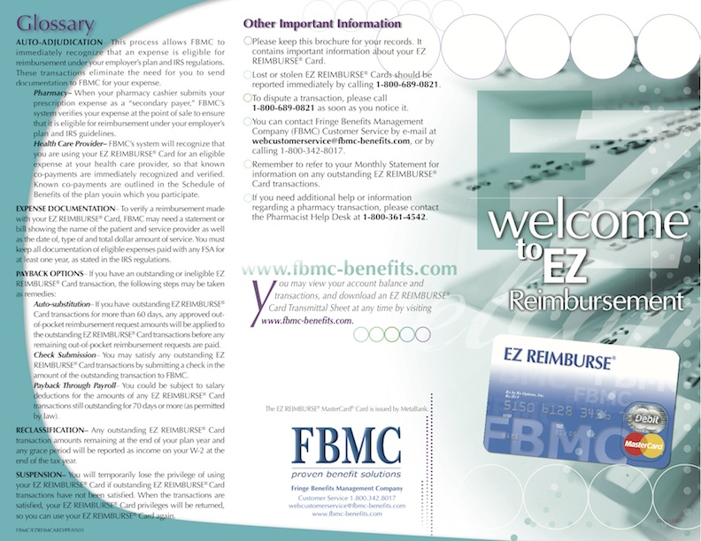 FBMC EZ REIMBURSE Card Mailer