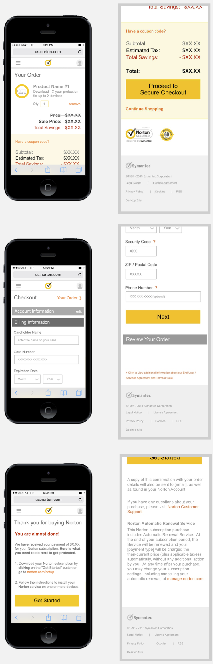 Norton Mobile Checkout