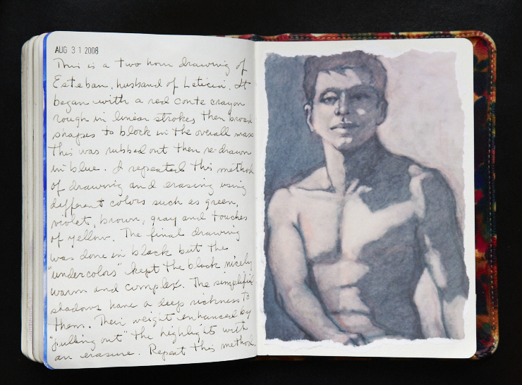 In total, Ken's journals, compiled over about twenty years, fill roughly 6000 pages of notes and sketches.