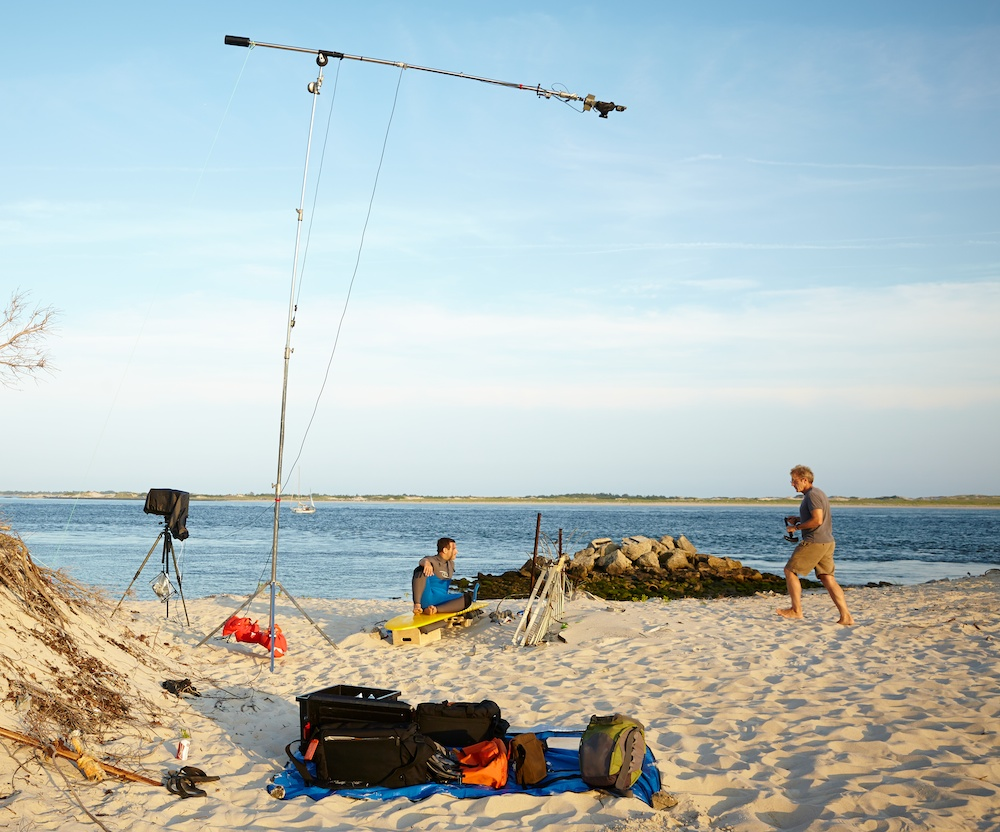 The setup with surfer James Parascandola and myself in Captree, Long Island