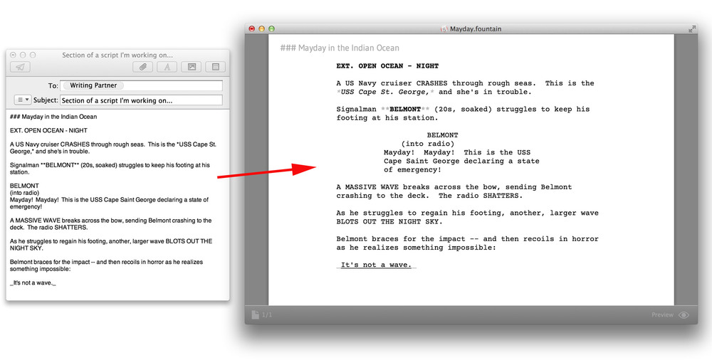 How to write a title card in a screenplay