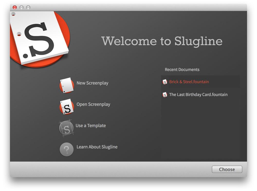 Slugline screenwriting app