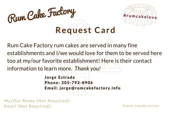 Request Card - Print Version - Download