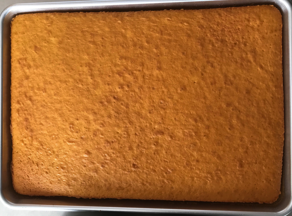 Rum Sheet Cakes (Before being glazed)