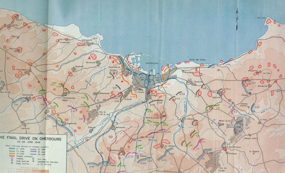 Maupertus - map - final drive on Cherbourg.jpg