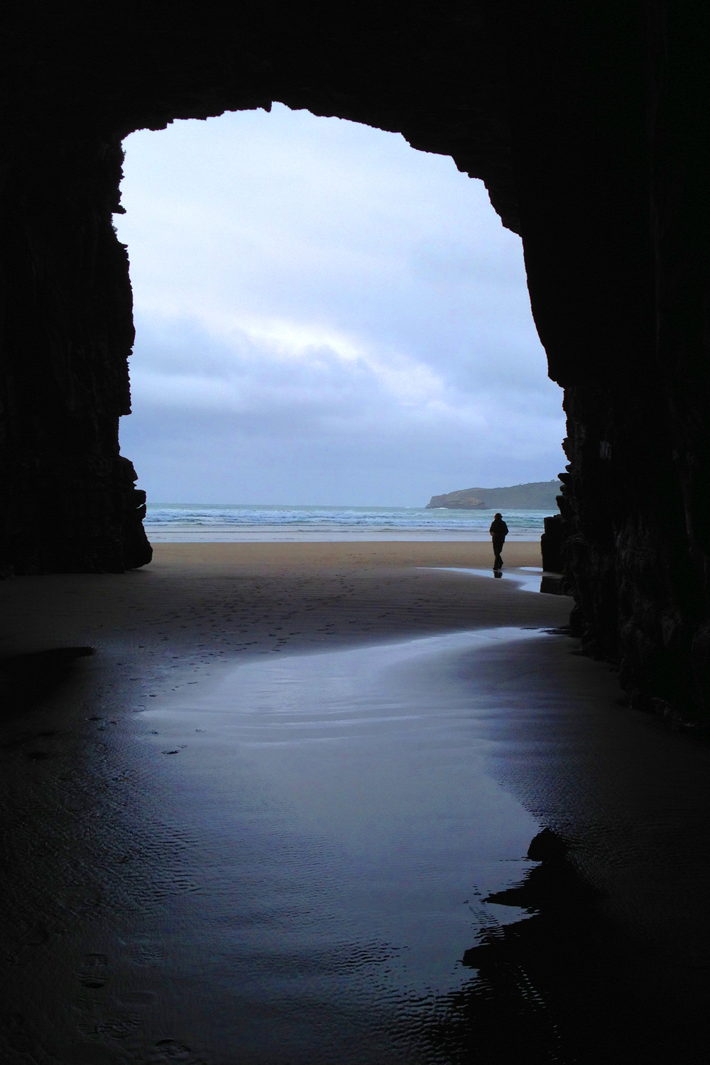 Catlins forest, cathedral caves