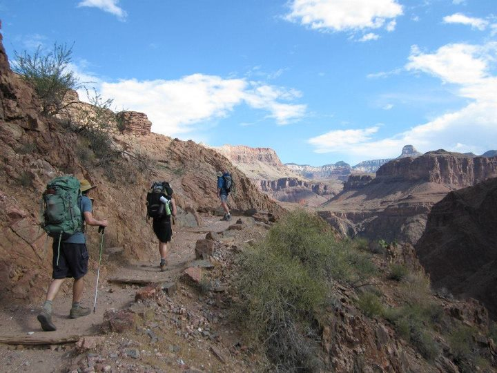 Hiking out of the Grand Canyon from Phantom Ranch