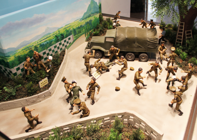 A little toy reenactment of the 1976 Axe murder incident that took place in the Joint Security Area neutral zone