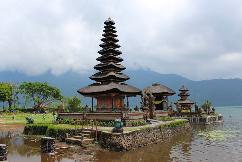 Ulun Danu temple on a lake