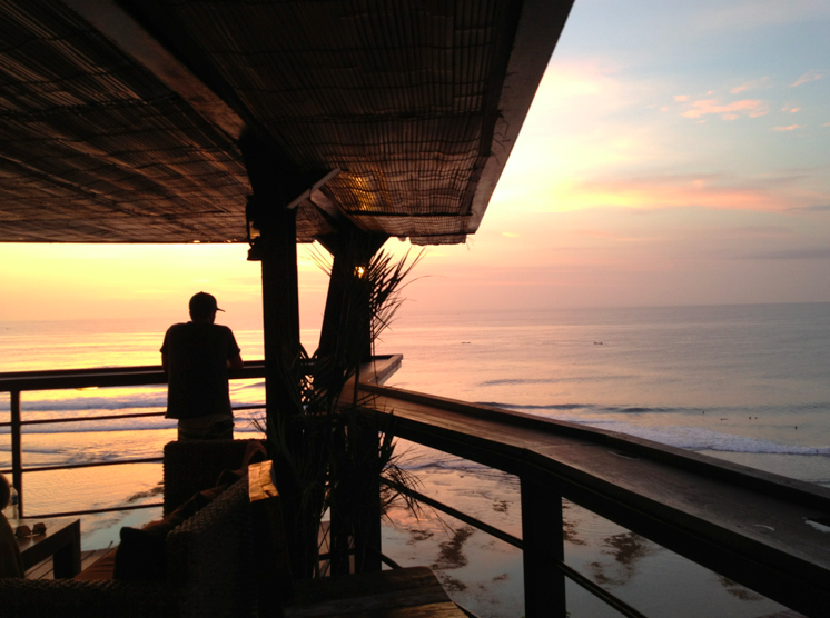 Sunset overlooking Uluwatu surfing beach. Farewell, Bali
