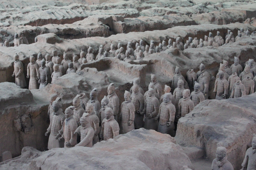 The largest excavation pit of the terra-cotta soldiers containing 6,000 figures from 210 BC. No wonder it's a UNESCO site.