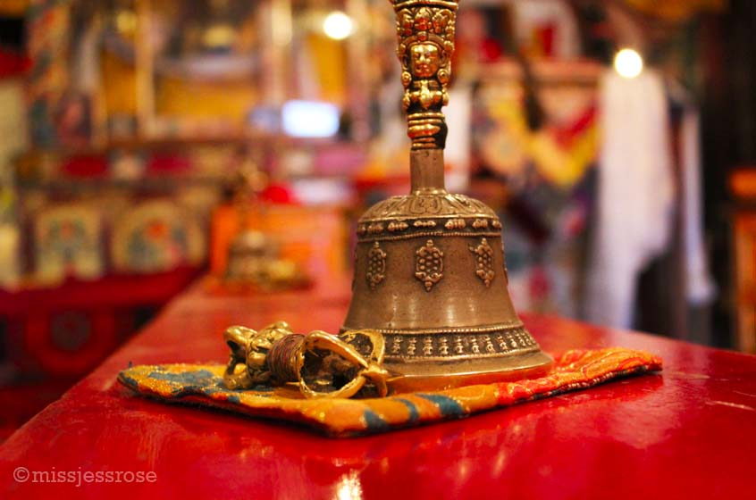 Inside a Buddhist monastery in Ladakh