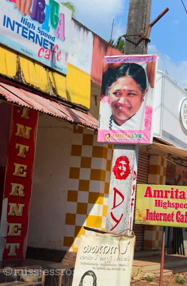 Amma posters can be found everywhere