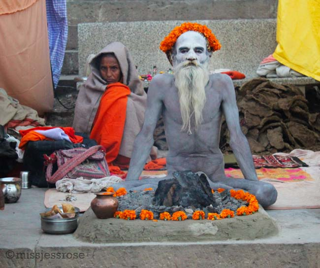 Another sadu migrated to Varanasi from the Kumbh Mela